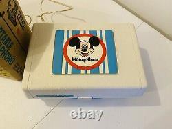 Vintage 1970 Disney Mickey Phonographes Ge Youth Phonographe Original Box
