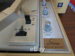 Vintage 1970 Ge General Electric Wildcat Phonographes Turntable Voir La Video