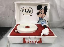 Vintage 1970 Mickey Mouse Record Player Ge Youth Electronics Modèle 3122