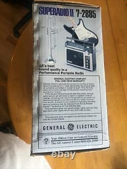 Vintage 70s Ge Superradio II 7-2885 Am/fm Nouveau Dans Une Boîte Scellée