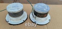 Vintage Ampex Bullet Tweeters Haut-parleurs Paire Org Travail Ge General Electric G-504