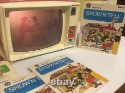 Vintage Années 1960 General Electric Show N Tell Phono Viewer Avec Des Tonnes D'histoires 18
