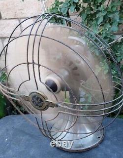 Vintage Antique Ge General Electric Vortalex Art Déco Electric Works Fan