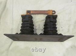 Vintage Antique Industrial Electric Knife Switch Frankenstein Ge 300a 7500v Cu
