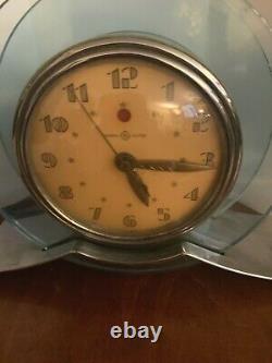 Vintage Art Déco General Electric Clock Blue Rapture #3h160