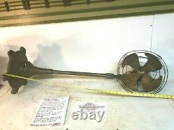 Vintage Art Déco General Electric Vortalex Floor Stand Oscillating Fan Fm12m11