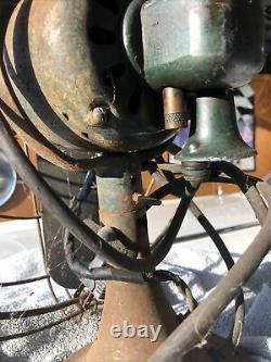 Vintage Deco Ventilateur Électrique Général De 16 Pouces Blade Attic Trouver Unrestored USA