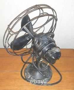 Vintage Delco General Motors Électroménagers Ventilateur Métallique Pour Rétablissement Collectible
