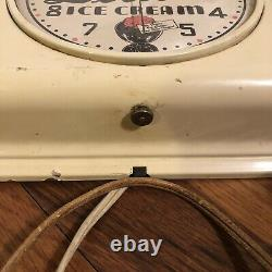 Vintage Delicia Ice Cream General Electric Clock Dairy Sign