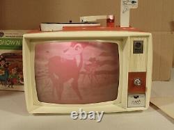 Vintage Des Années 1960 General Electric Show N Tell Phono Viewer, 10 Disques, Nouvelle Aiguille