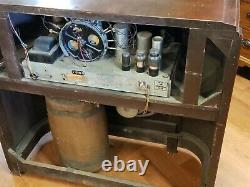 Vintage G. E. Forte Radio Console Modèle G-95 Radio Circa 1938 Nous Bateau