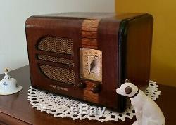Vintage Ge En Bois Am Tube Radio Gd-41a (1938) Rare Et Restaurer Complètement