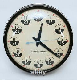 Vintage Ge General Electric 18 12/24 Heure Bakelite Wall Clock Military D-day