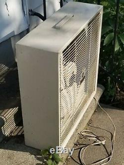 Vintage Ge General Electric Box Fan 3 Vitesse 20 Électrique Réversible