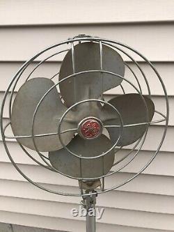 Vintage Ge General Electric Floor Fan Speed Télescopique Industriel