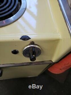 Vintage Ge General Electric Intégré Four Gamme De Cuisson Poele Jaune Atomique MCM