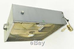 Vintage Ge General Electric Metal Box Fan 21,5 3 Vitesses Gris Métalframe