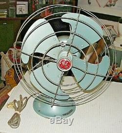 Vintage Ge General Electric Oscillant 3 Vitesse Fan Fm12v43 USA No. 04