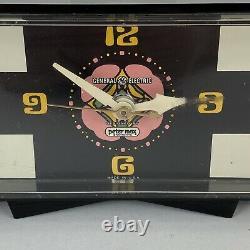 Vintage Ge General Electric Peter Max Alarm Clock Pop Art 60s 70s Testés Works