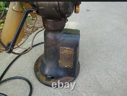 Vintage Ge General Electric Pré Paiement Coin Op Brass Blade Fan
