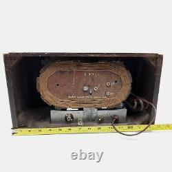 Vintage Ge General Electric Tube Radio J-53 Tabletop Wooden Am 1941 Travaux