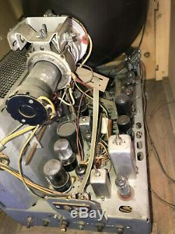 Vintage Ge General Electric Tv Modèle 12t4 Télévision Console Prop Art