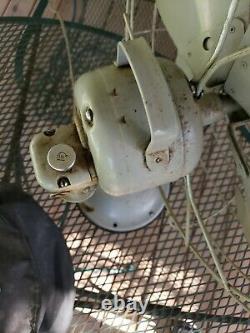 Vintage Ge General Electric Vortalex 3 Vitesse F11v163 Ventilateur Cage Oscillante