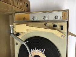 Vintage Ge General Electric Wildcat Record Player Portable Turntable Stéréo Utilisé