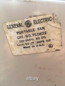 Vintage Ge General Électrique Éventail De Boîte Portable 3 Vitesse Des Besoins Utilisables Travail