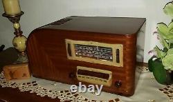 Vintage Ge H-640 Am/sw Tube Radio (1939) Magnifiquement Restauré