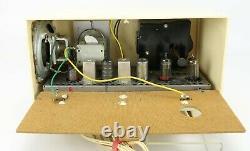 Vintage Ge Modèle 564 Tube Clock Am Radio 1954 Jet Age Excellent Travail