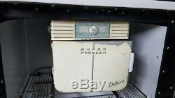 Vintage Ge Réfrigérateur Électrique Général Avec Congélateur, Runs