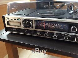 Vintage Ge Stereo Music System 8 Pistes Phonographes Turntable Sc3300b
