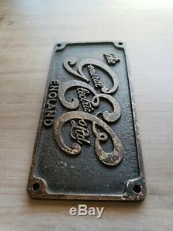 Vintage Gec General Electric Co. Plaque Signe Locomotive Angleterre Plate Logo Fan