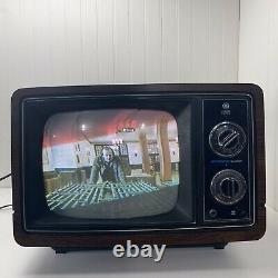 Vintage General Electric 10'' Portable Color Television Retro Gaming Tv Works