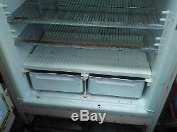 Vintage, General Electric, 60 Pédale Travail Rose Réfrigérateur Congélateur Debout
