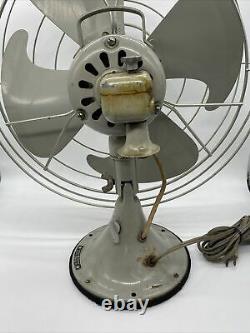Vintage General Electric F12v163 Grand Ventilateur Industriel Oscillant Vortalex Nice
