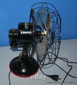 Vintage General Electric Fan Oscillant 49x491 Noir 3 Vitesses Works 16 Livres