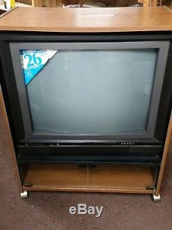 Vintage General Electric Ge 26 Mts Téléviseur Couleur Stéréo Tv 1987 Neuf
