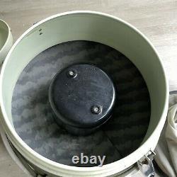 Vintage General Electric Ge Canister Aspirateur P2c14 Rétro Vert / Blanc