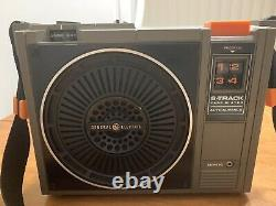 Vintage General Electric Ge Portable 8 Track Player 3-5505f Works + Collection