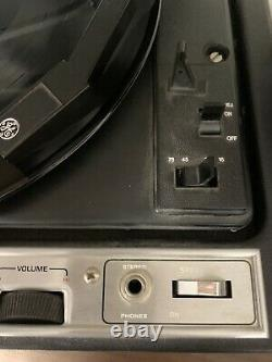 Vintage General Electric Ge Solid State Stéréo Record Player T361k Works