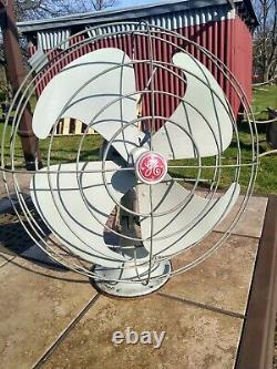 Vintage General Electric Ge Vortalex Gray 3 Vitesse Osculating Fan 16 Blade