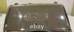 Vintage General Electric Ge Waffle Fer Baker Grill Chrome 24g42 Rare Clean