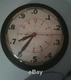 Vintage General Electric Horloge Murale Avec Midcentury Industrielle Rare Visage Peu Commun