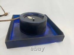 Vintage General Electric Horloge Murale Rétro Milieu Du Siècle Moderne Bleu Cobalt Blanc #
