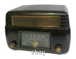 Vintage General Electric Model 202 Tube Radio Art Déco Bakelite Fonctionne Très Bien