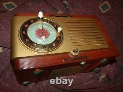 Vintage General Electric Modèle 521f Bakelite Tube Am Radio Fonctionne Dans Le Monde Entier