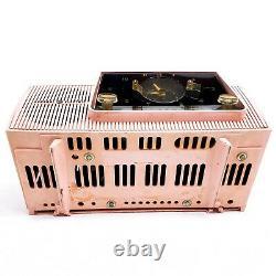 Vintage General Electric Pink Clock Tube Radio Alarme Ge MID Century Modern Am