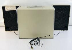 Vintage General Electric Stéréo Trimline 500 Portable Record Player Fonctionne Très Bien